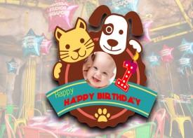 E06 Die Cut Birthday Logo (Animal Theme)
