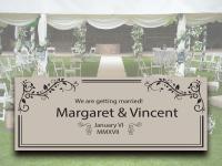 E11 婚禮橫額