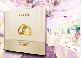 E29 婚禮背景板  (200CM闊 x 230CM高)