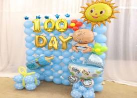 e33 DIY氣球生日背景板 連電動氣泵