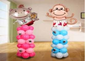 e34 DIY氣球柱一對 連電動氣泵
