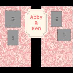 D13 玫瑰主題 (適用:背景板/邀請卡)