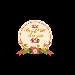 D28 花主題婚禮 (適用: Diecut 婚宴Logo)