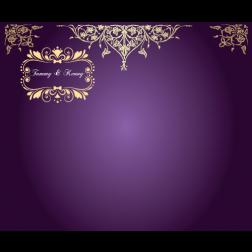D36 紫啡色主題  (適用:背景板/邀請卡)