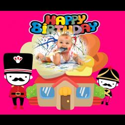 E03 士兵主題 (適用:生日背景板)