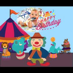 E06 馬戲生日 (適用: 生日背景板)