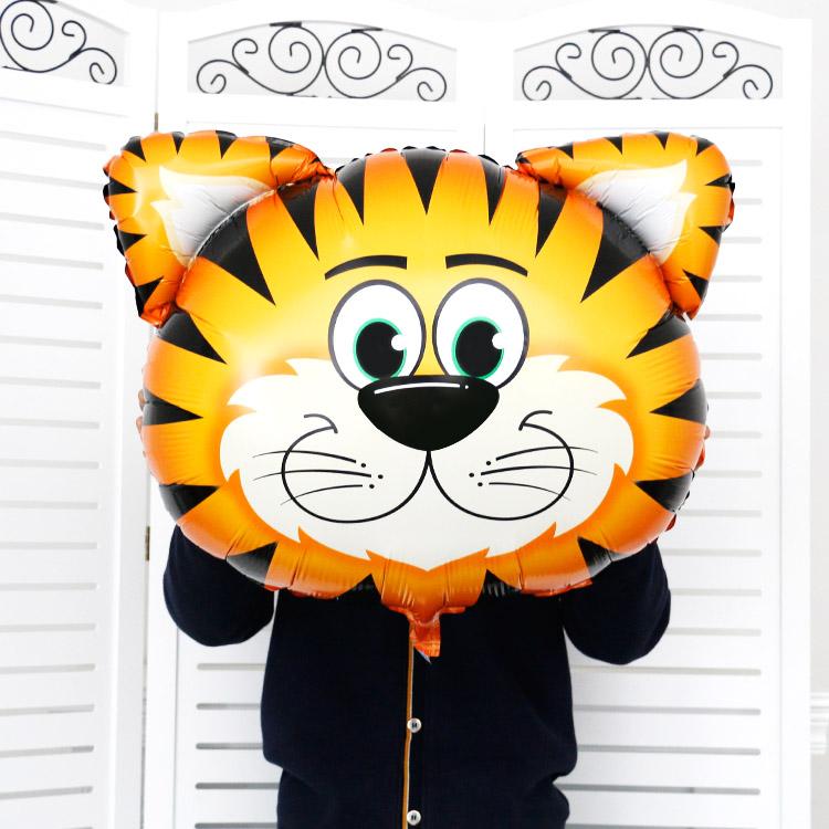p11 卡通动物铝膜气球 6个/套